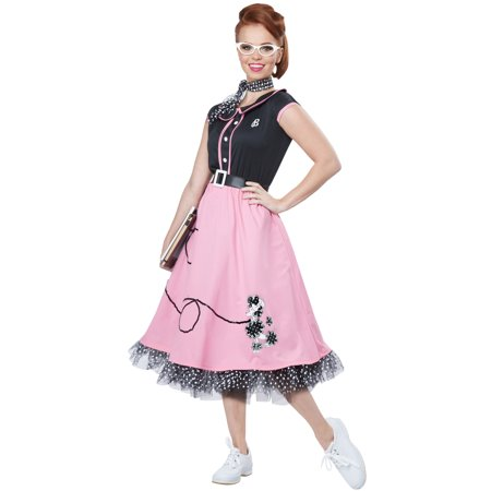 50s Sweetheart Adult Costume](50s Pink)