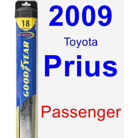 2009 Toyota Prius Passenger Wiper Blade - Hybrid