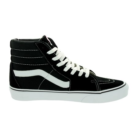 Vans Sk8-Hi (Black/Black/White) Men's Skate Shoes-11 When skaters wanted a high-top with more ankle protection, Vans developed its first reinforced, padded high top skate shoe, the Sk8-Hi. Flying out of pools at high speeds was taking a toll on kids' ankles. so the Sk8-Hi offered the best protection available.