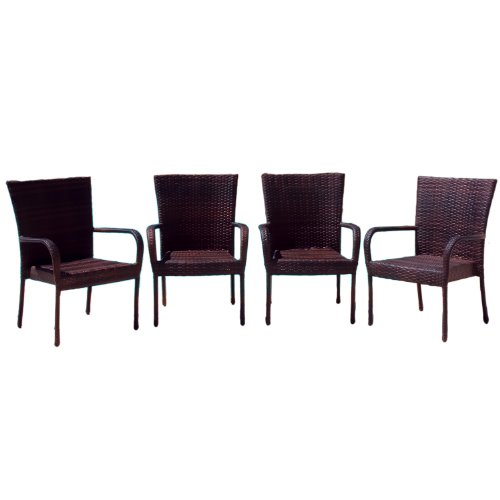 Best Selling Outdoor Wicker Chairs, 4-Pack