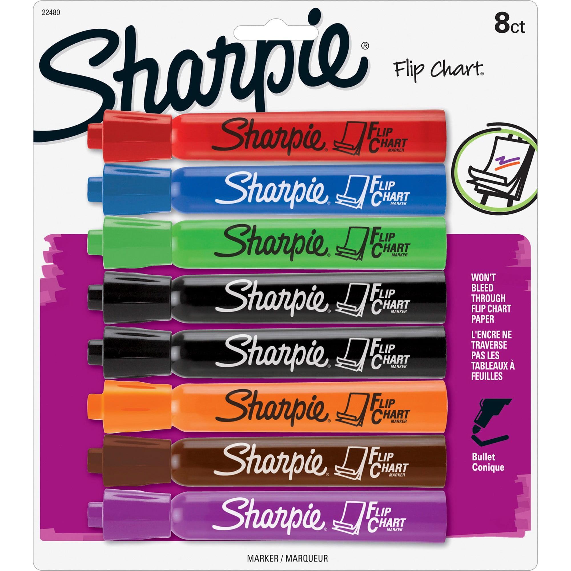 Picture A Christmas Flipchart.Sharpie Flip Chart Markers Bullet Tip Assorted Colors 8 Pack Walmart Com