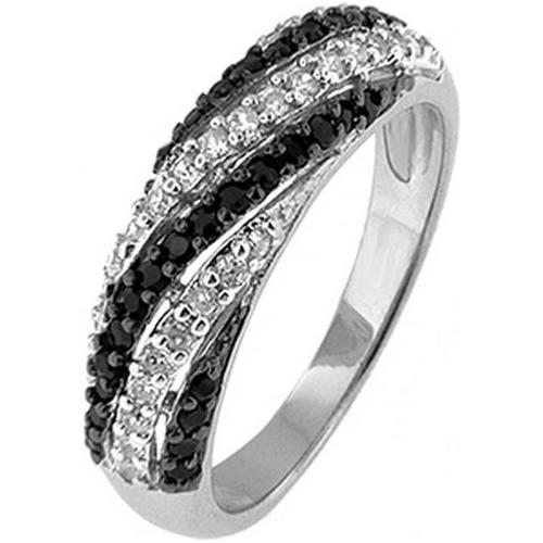 Doma Jewellery SSRZ4478 Sterling Silver Ring With CZ, Size 8