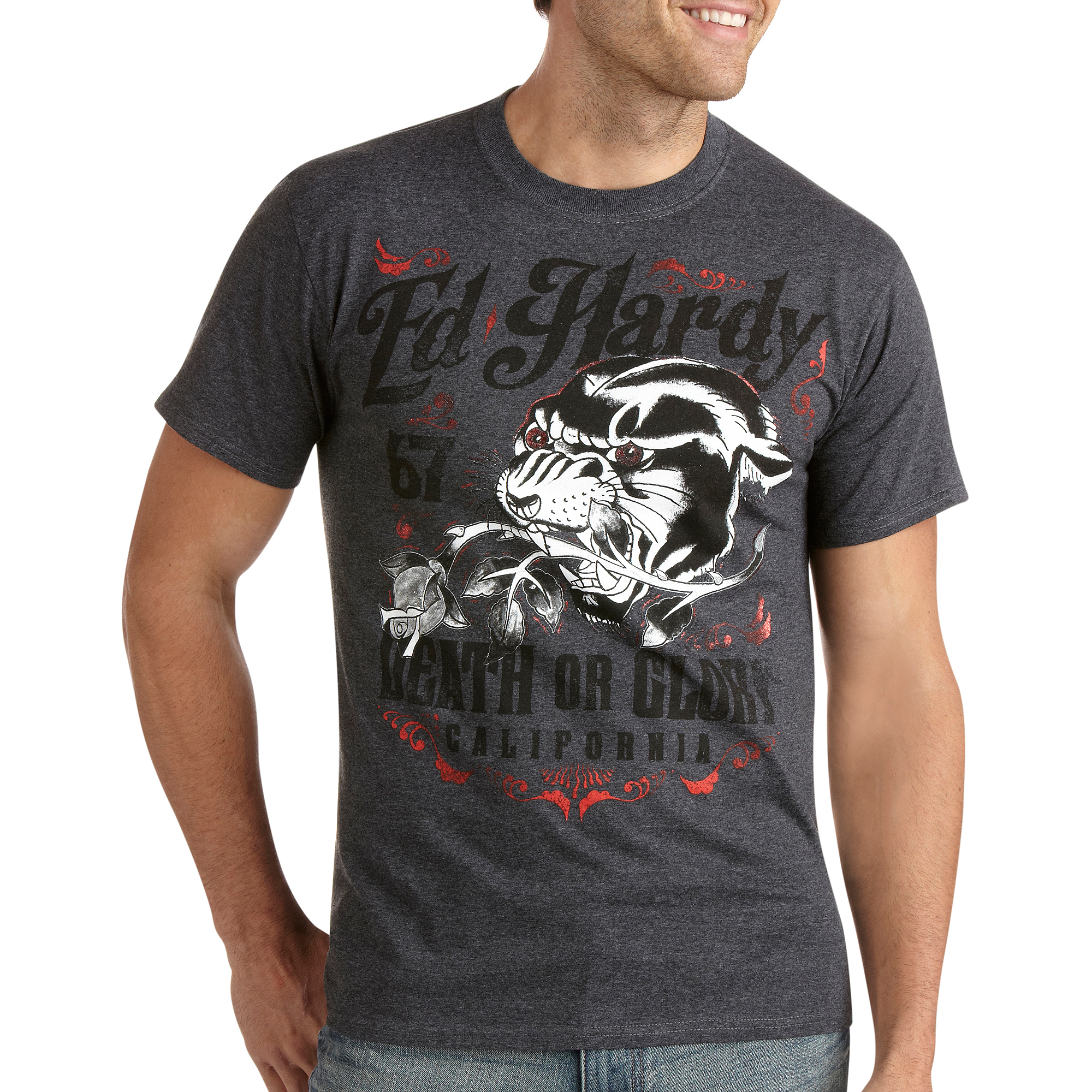 Death Or Glory Panther Big Men's Graphic Tee