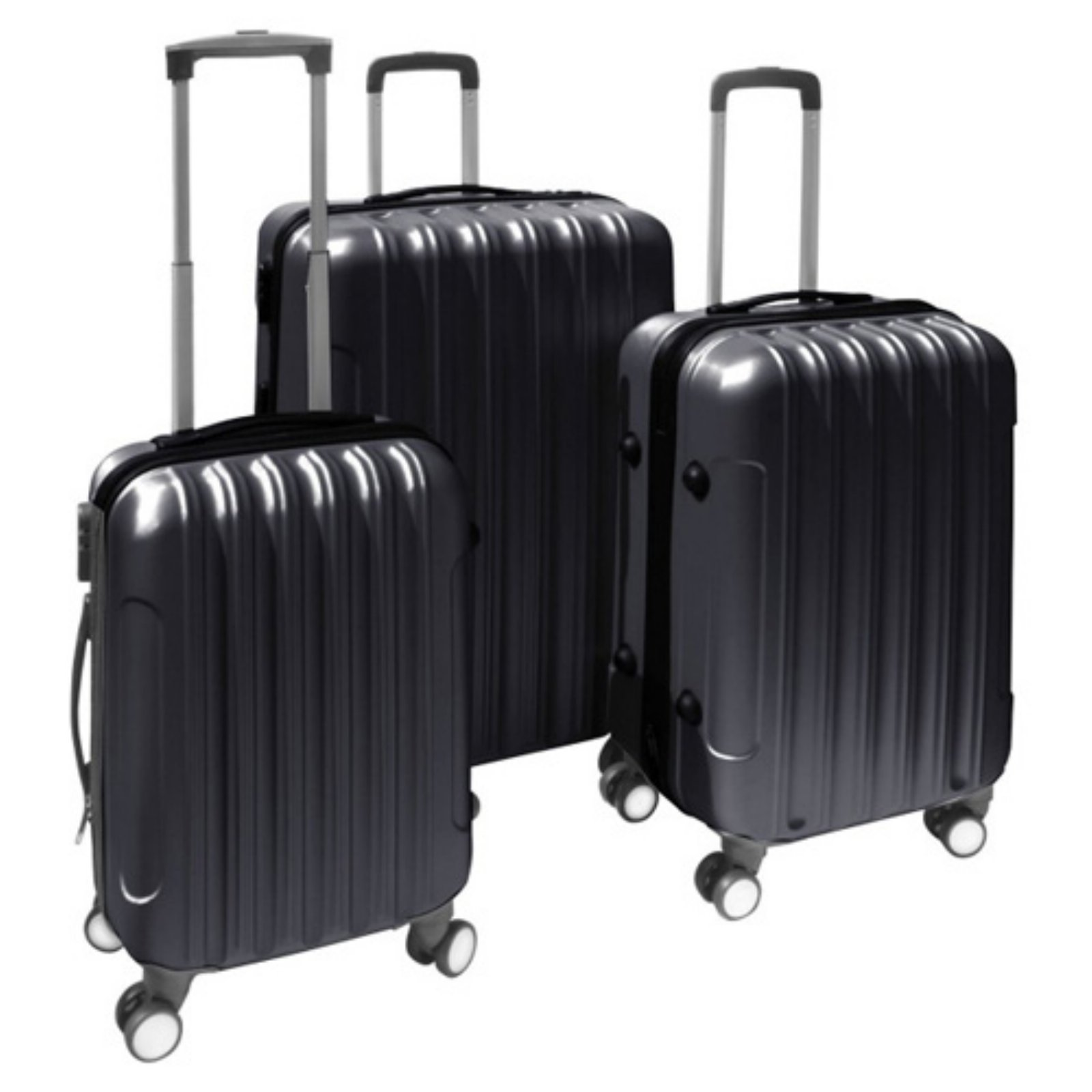 ALEKO 3-Piece Luggage Travel Bag Set, Black
