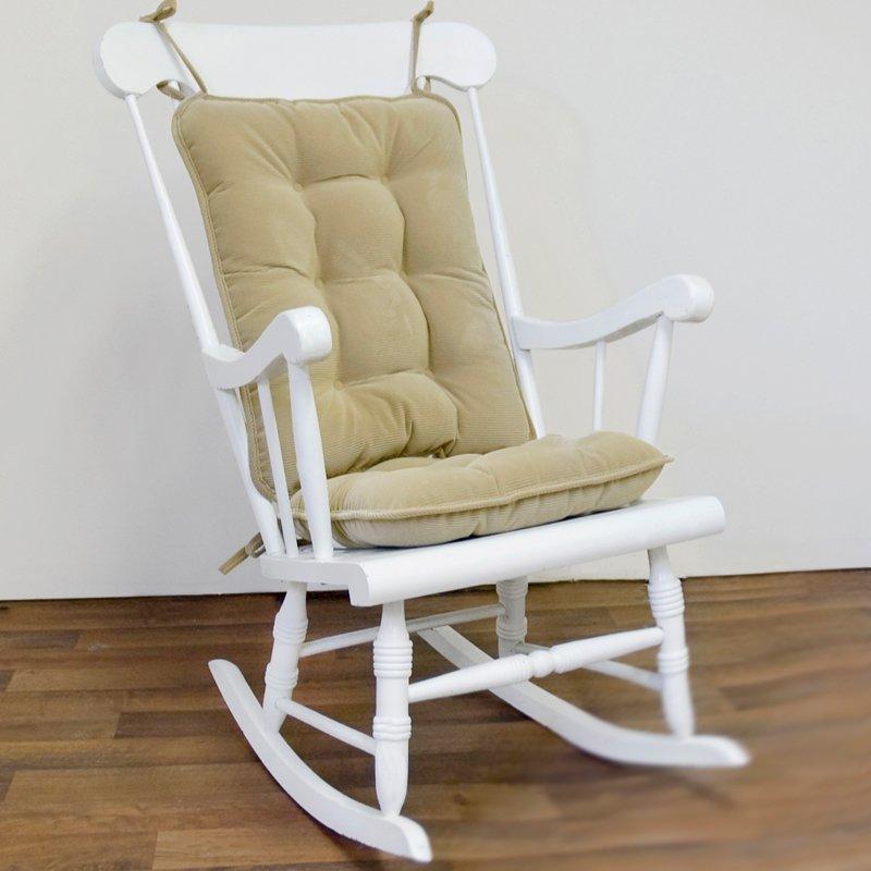 Standard Rocking Chair Cushion Set, Cherokee Solid, Khaki