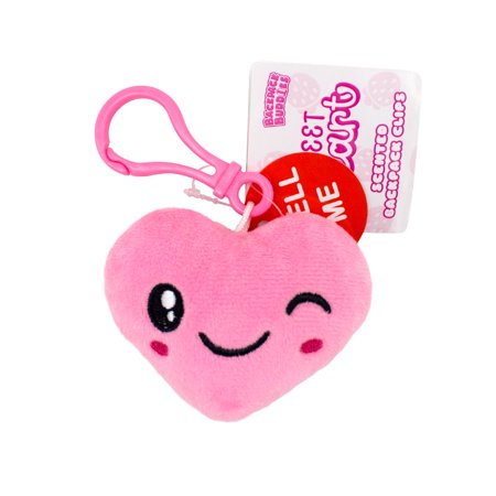 Scentco Sweetheart Backpack Buddies- Strawberry Scented Plush Clip