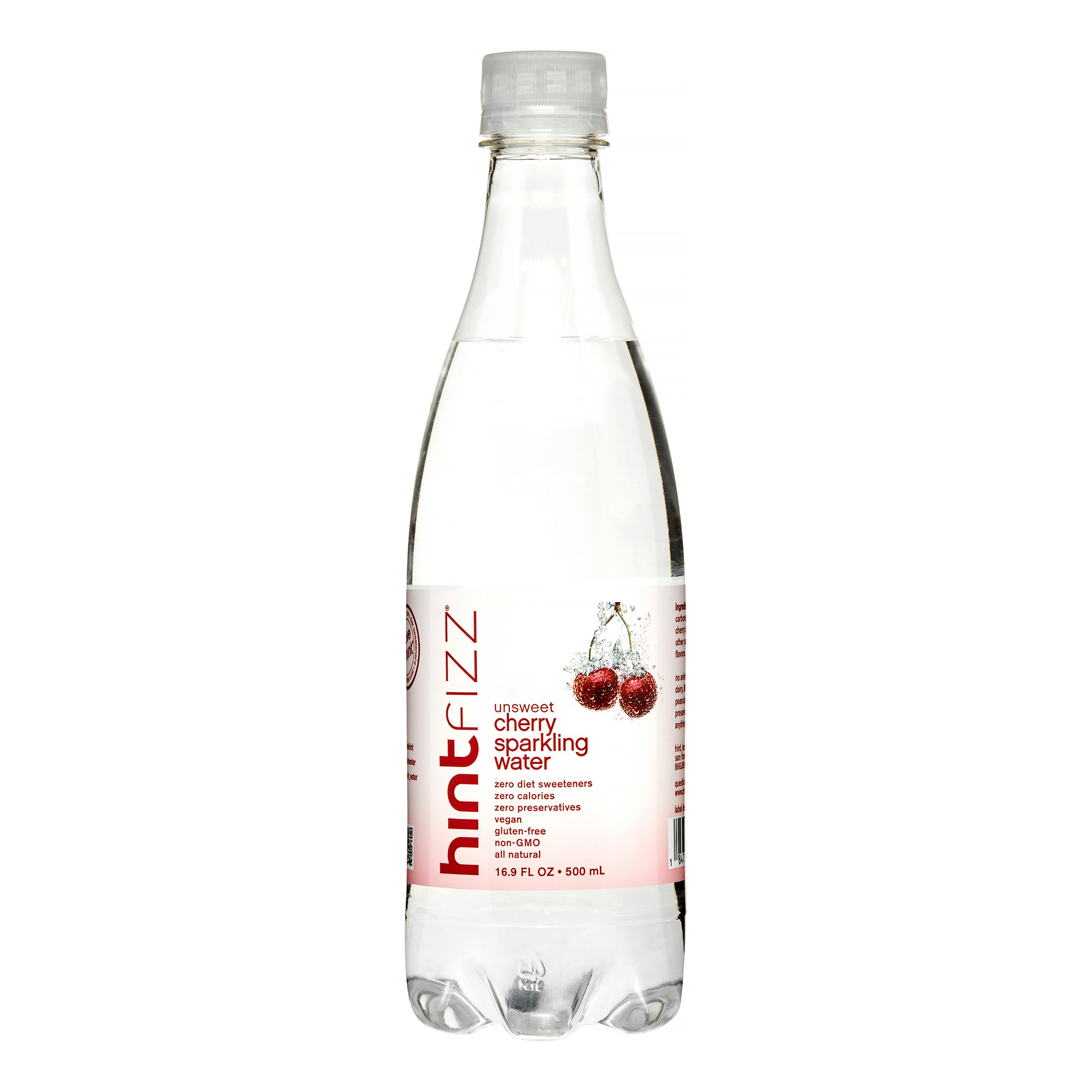 Hint Fizz Sparkling Water, Cherry, 16.9 Fl Oz, 12 Count by Sparkling Water