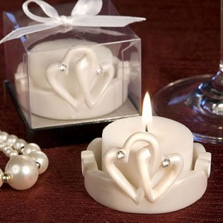 Candle Wedding Favors: Interlocking Hearts, 30 By Fashioncraft