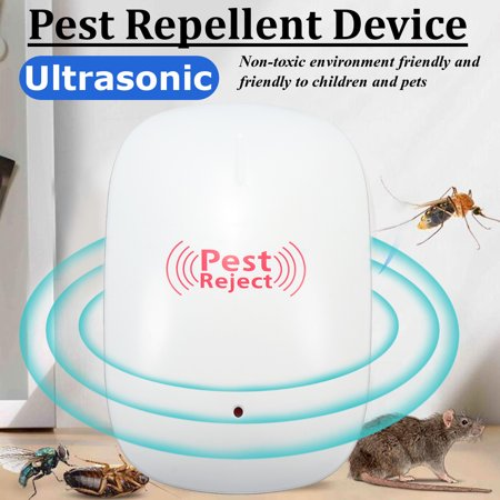 Ultrasonic Insect Killer,Electronic Bug Zapper Indoor Insect Killer For Mosquitoes, Mice, Ants, Fleas, Spiders, Bedbugs, Flies, Insects, Rodents Plug-in