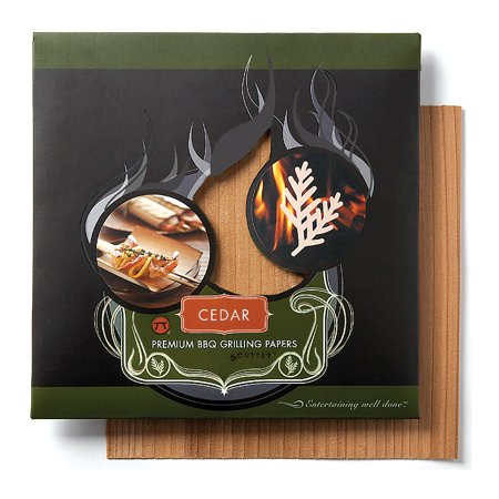 - Outset Cedar Wood Grilling Papers Set 6 Meat Wrap Smoked Flavor Poultry Steak