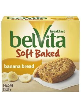 belVita Soft Baked Banana Bread Breakfast Biscuits, 5 Packs (1 Biscuit Per Pack)