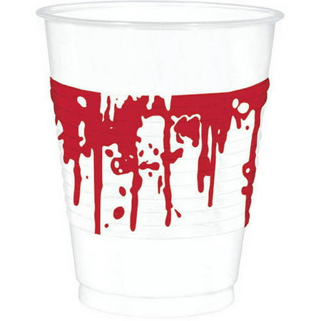 Details about 25 Haunted Halloween SURGERY HORROR Party Bloody 470ml Plastic Cups