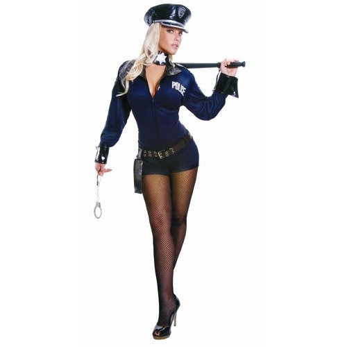 Adult Sexy Police Officer Costume Set - Large