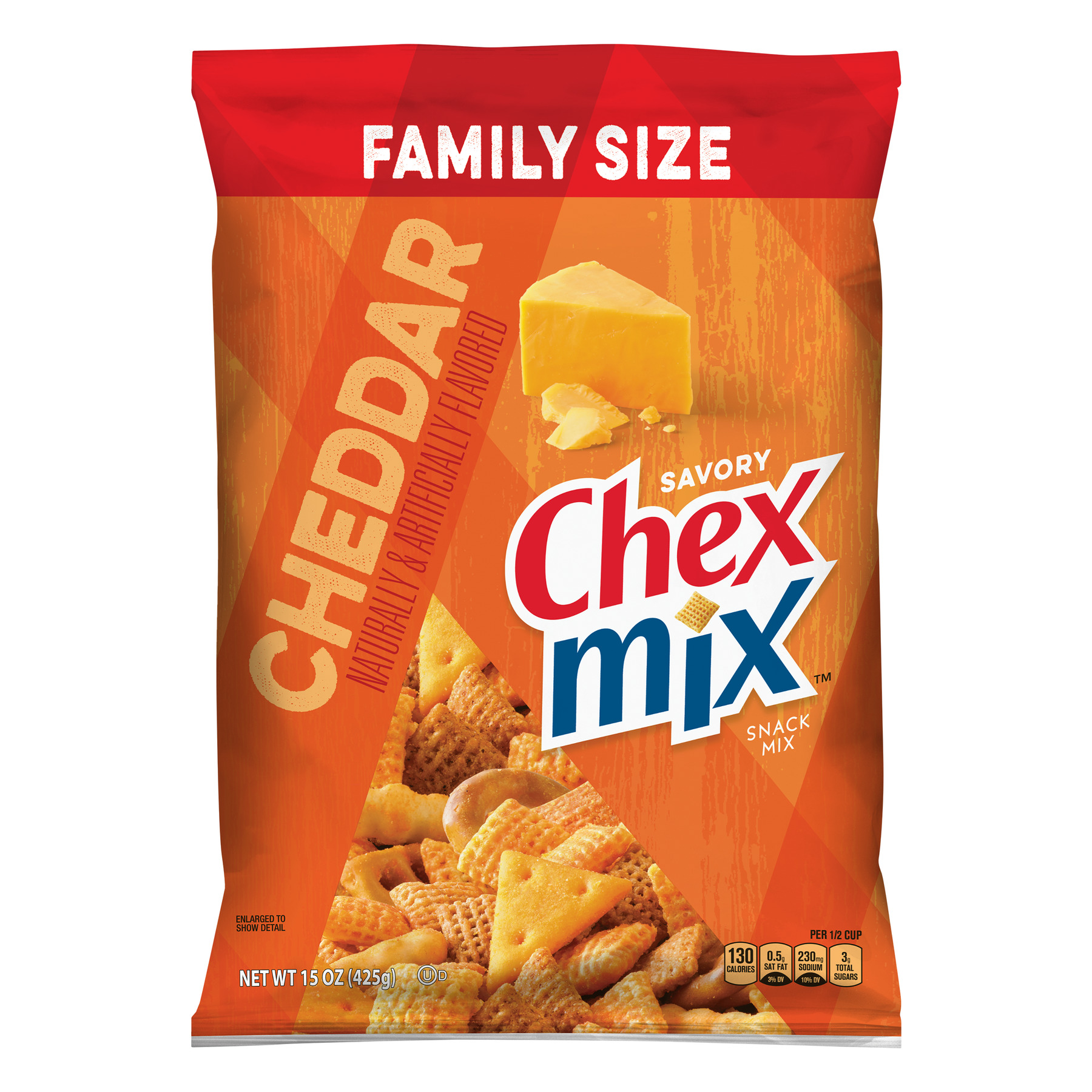 Chex Mix Savory Cheddar Snack Mix, 15 oz Bag