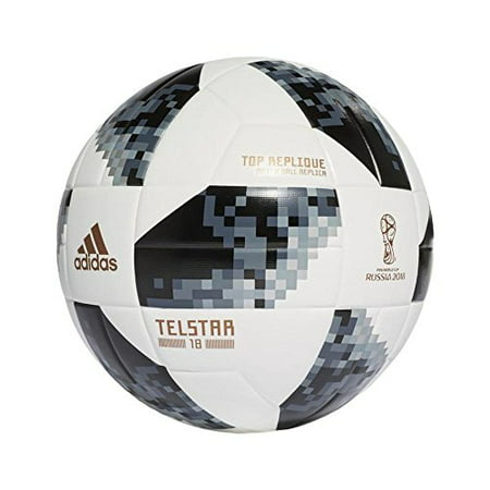 adidas Top Glider Soccer Ball, Size 5, Black