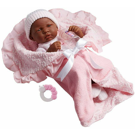 """La Newborn 15.5"""" Soft-Body Realistic Newborn Baby Doll Deluxe Layette Gift Set with Bunting"""