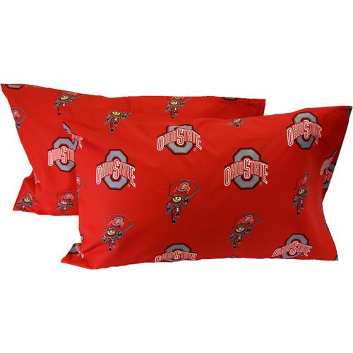 College Covers NCAA Ohio State Buckeyes Pillowcase (Set of 2)