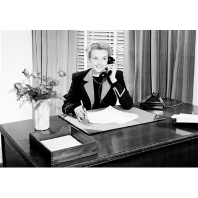 Posterazzi SAL2559258 Businesswoman Talking on the Telephone Poster Print - 18 x 24 in. - image 1 of 1