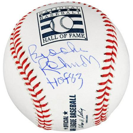 Brooks Robinson Baltimore Orioles Autographed HOF Logo Baseball with HOF -