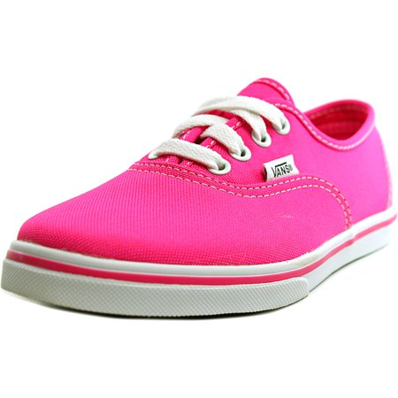 Vans Authentic Lo Pro Youth  Round Toe Canvas Pink Sneakers