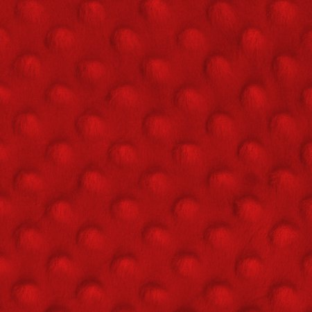 SHASON TEXTILE (2 Yards cut) SOFT CUDDLY MINKY DOT FLEECE, RED.