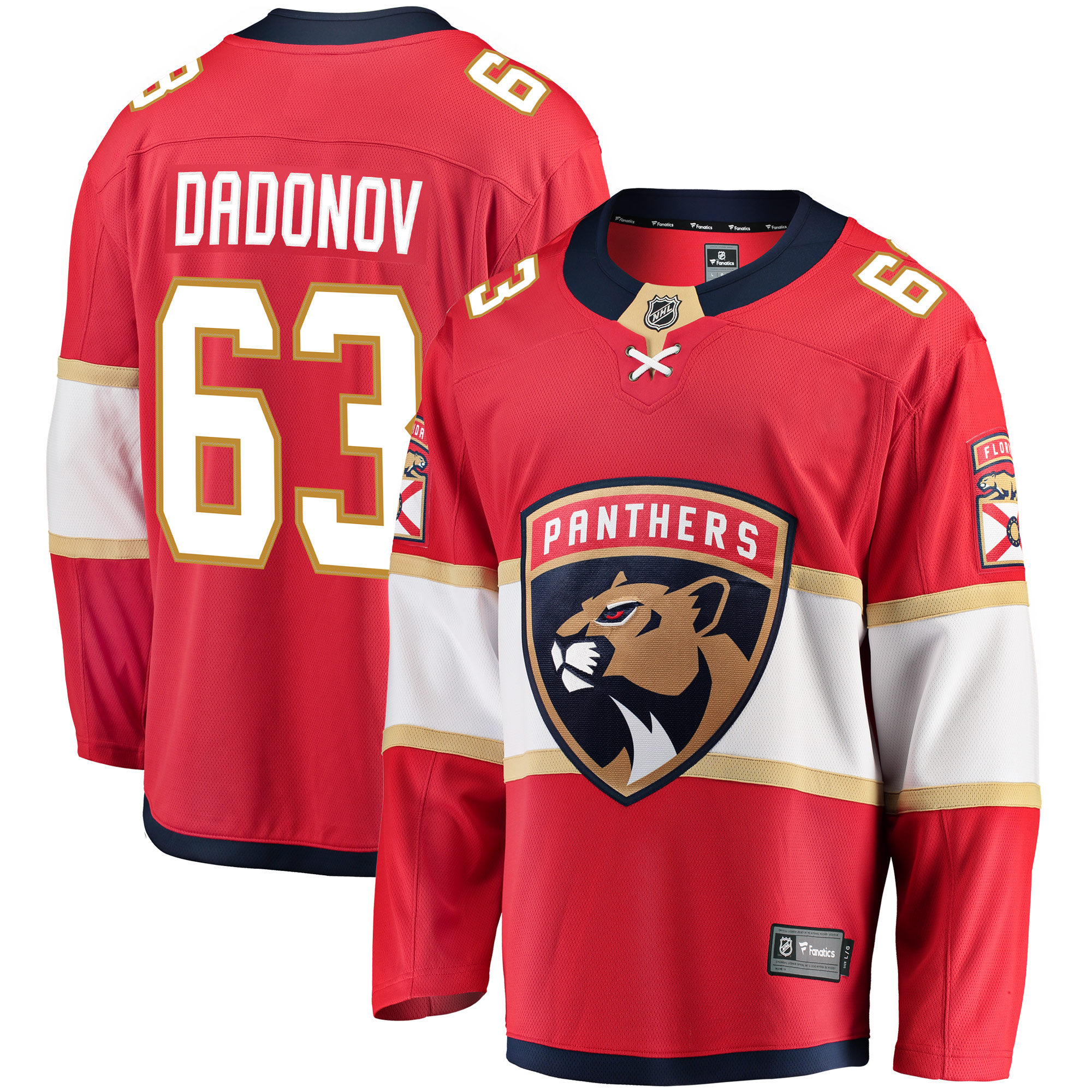 Evgenii Dadonov Florida Panthers Fanatics Branded Breakaway Jersey - Red