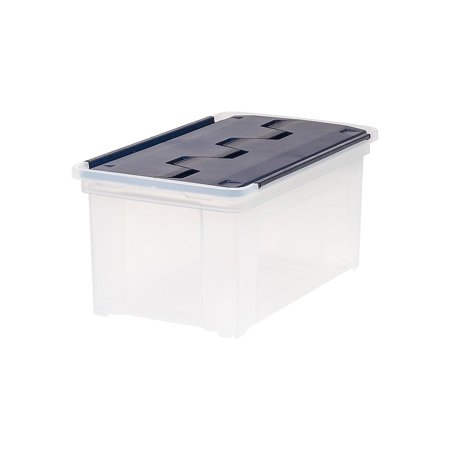Staples 47 Qt. Wing Lid Storage Tote Clear (139582) 2740500 (Stage Wings)