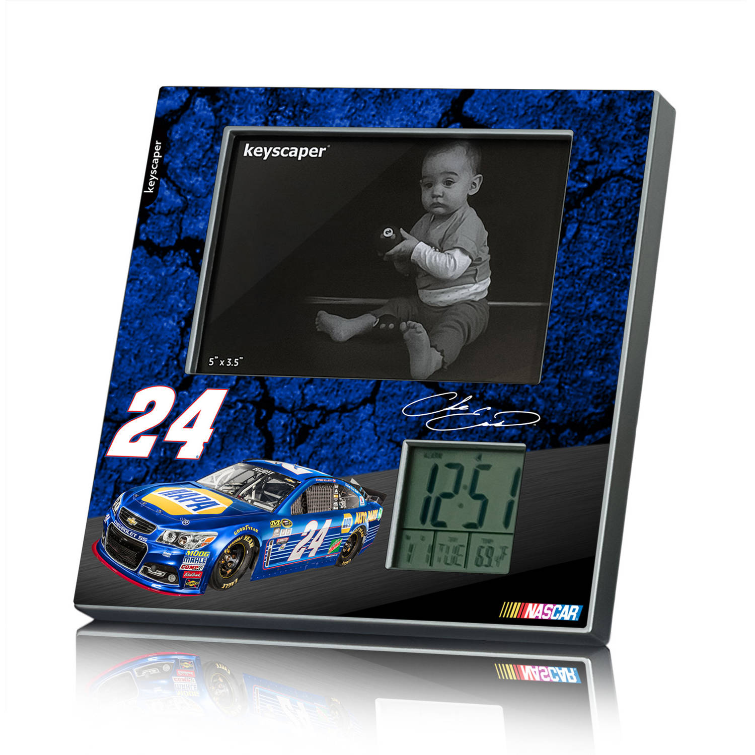 Chase Elliott 24 Napa Picture Frame Clock by Keyscaper