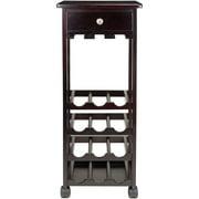 Marsala Wine Cart, 12-bottle, Glass Rack