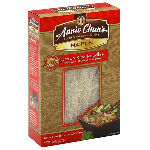 Annie Chun's Maifun Brown Rice Noodles, 8 oz, (Pack of 6)