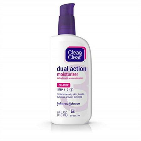 clean & clear dual action oil-free moisturizer - 4 oz - 2 pk