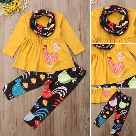 a5c778fb1c0de Emmababy - Thanksgiving Toddler Baby Girls Turkey Tops Dress Pants Leggings  Outfits Clothes - Walmart.com
