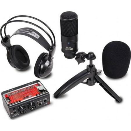 Dj Tech STUDIOPACK202 Studio Recording Kit W/ Usb Audio Interface, Condenser Mic, & Studio (Other Portable Audio Devices)