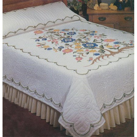 Tree Of Life Stamped Cross Stitch Quilt , 90