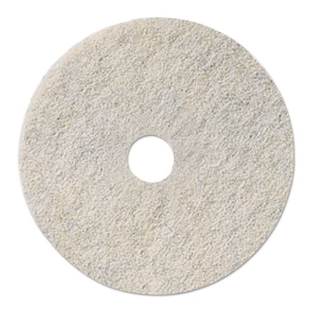 "Ultra High-Speed Natural Hair Floor Pads, 19"""" Diameter, White, 5/carton"