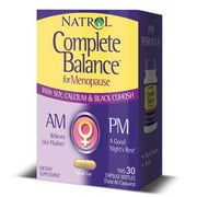 Natrol Complete Balance For Menopause AM&PM Capsules, 30 Ct