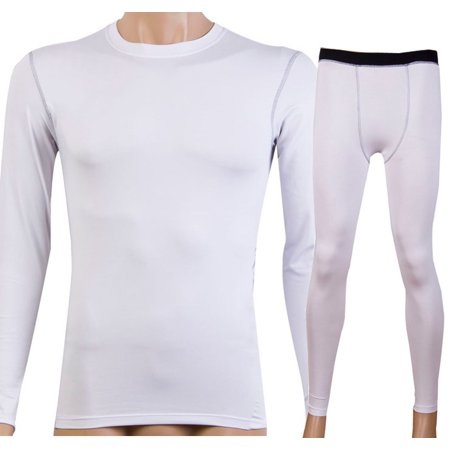 1bf7407b54 SENFLOCO - Senfloco Men's Cool Long Sleeve Compression Terylene Spandex T  –Shirt and Trousers for Gym – 2-Piece Set - Walmart.com