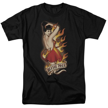 Bettie Page/Devil Tattoo S/S Adult 18/1   Black     Pag554 for $<!---->