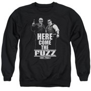 Hot Fuzz Here Come The Fuzz Mens Crewneck Sweatshirt