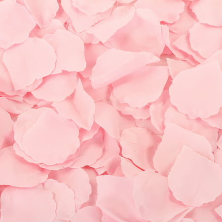 Koyal Wholesale Blush Pink Silk Rose Petals, 200-Pack, Wedding Flowers Table Scatter, Rose Petal Aisle Runner - Punk Wholesale