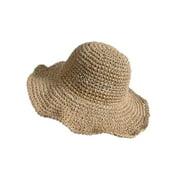 Loalirando Women Sun Hat Foldable Large Wide Brim Straw Hat Summer Beach Cap UV Protection