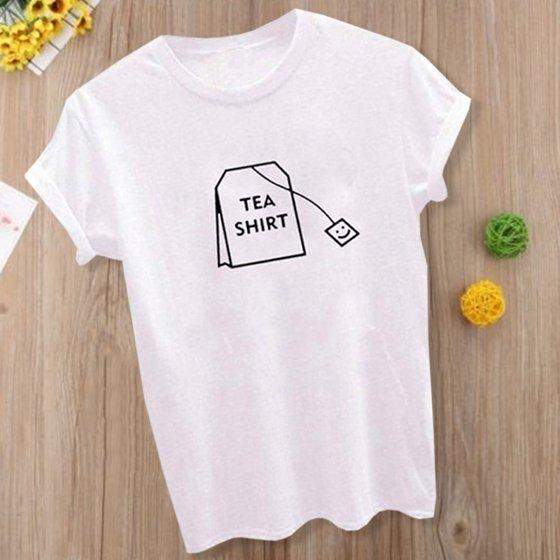 01f514dcf Fancyleo - Fancyleo Humor Tea Shirt Graphic Shirt Women's Summer ...