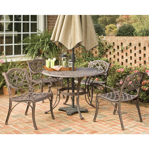 "Home Styles Biscayne 5 Piece 48"" Round Dining Set, Multiple Finishes"