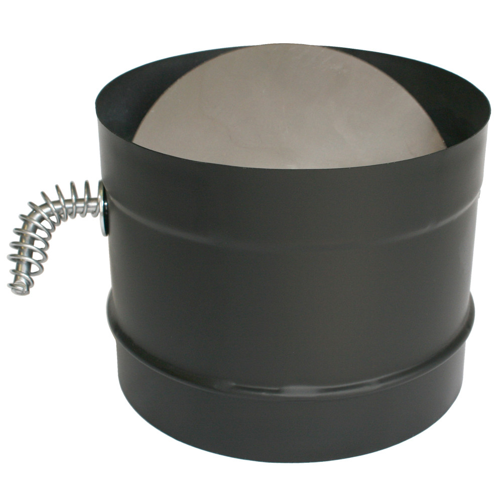 "DuraVent 8DBK-DS 8"" Inner Diameter - DuraBlack Stove Pipe - Single Wall - Damper"