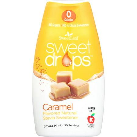 Sweetleaf Sweet Drops Caramel Flavored Natural Stevia Sweetener, 1.7 Oz (Pack Of 12)