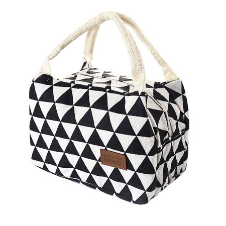For Women Kids Men Insulated Canvas Box Tote Bag Thermal Cooler Food Lunch