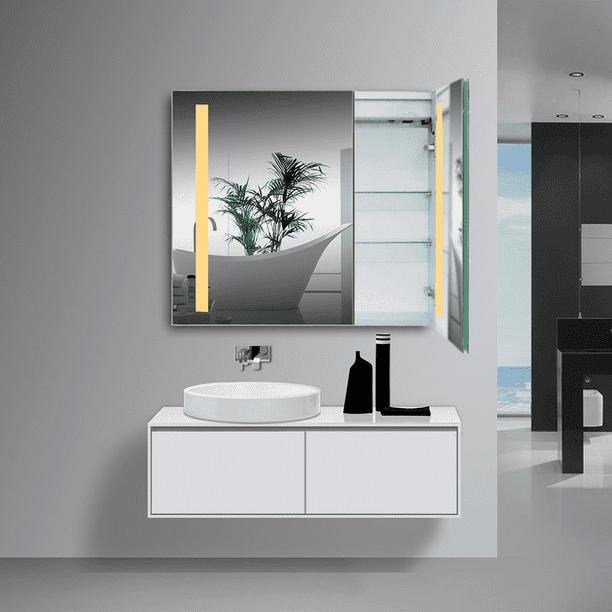 32 X28 Rectangle Wall Mounted Medicine, Vanity Mirror Medicine Cabinets
