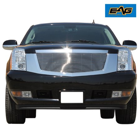 EAG 07-12 Cadillac Escalade Chrome Upper Hood Billet Packaged Grille with ABS Shell Billet Grille Shell Package