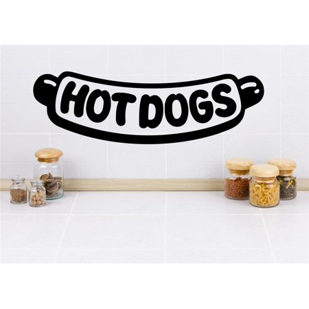 New Wall Ideas Hot Dogs Kitchen Image Quote 8x20 Inches - Hot Dog Ideas