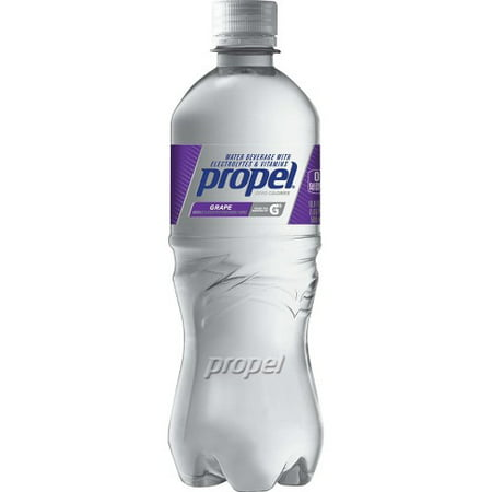 (2 Pack) Propel Water, Grape, 16.9 Fl Oz, 12 Count (Encore Water)